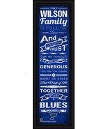 "Personalized St. Louis Blues ""Family Cheer"" 24 x 8 Framed Print - $39.95"