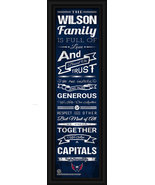 "Personalized Washington Capitals ""Family Cheer"" 24 x 8 Framed Print - $39.95"