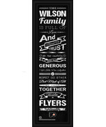"Personalized Philadelphia Flyers ""Family Cheer"" 24 x 8 Framed Print - $39.95"