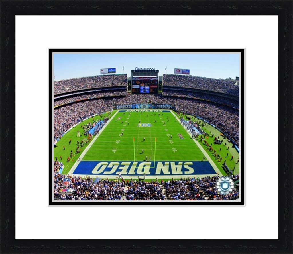 San Diego Chargers Home Field: Framed Qualcomm Stadium San Diego Chargers Photo AALQ229