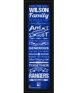 "Personalized New York Rangers ""Family Cheer"" 24 x 8 Framed Print - $39.95"