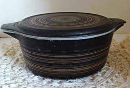 Vintage PYREX Covered Casserole Dish // Pyrex Terra Casserole Dish - $13.00