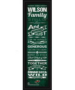 "Personalized Minnesota Wild ""Family Cheer"" 24 x 8 Framed Print - $39.95"