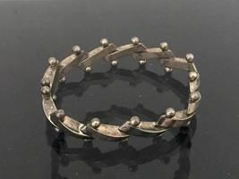 Vintage Sterling Silver Bracelet 8'' Length - $125.00