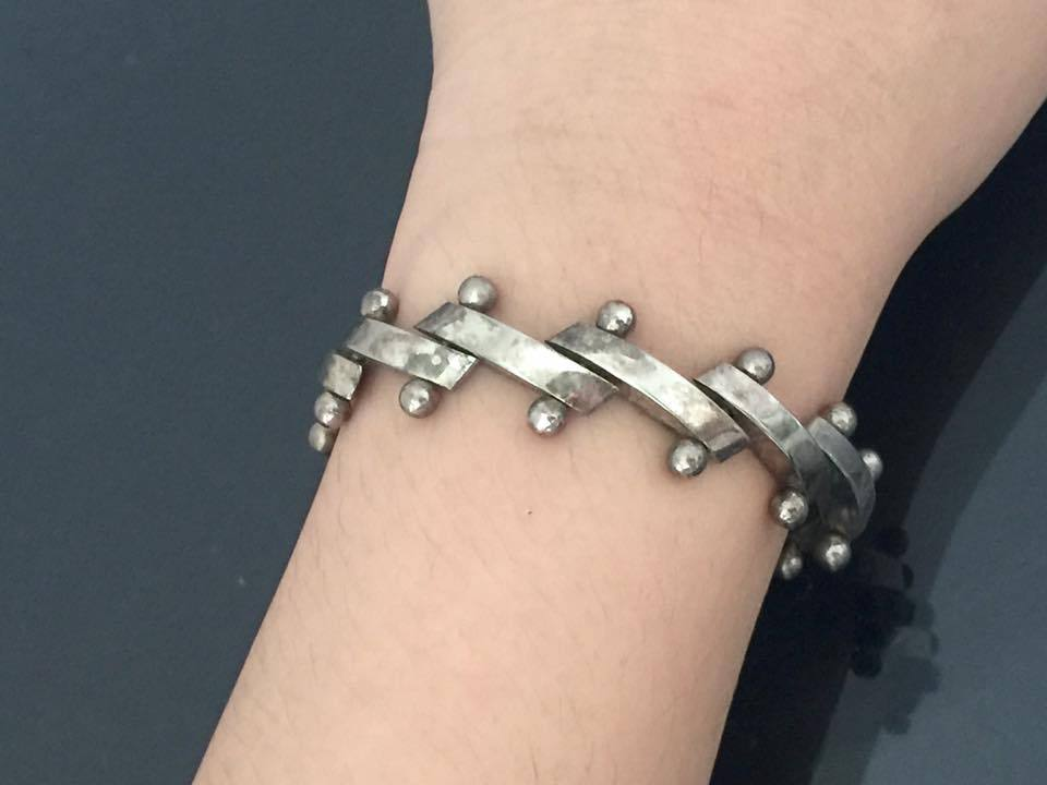 Vintage Sterling Silver Bracelet 8'' Length