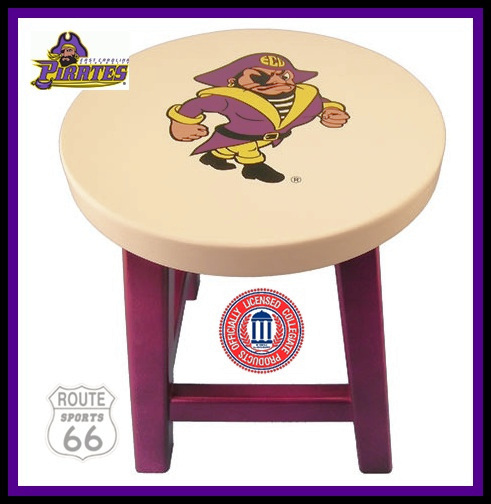 EAST CAROLINA  PIRATES FOOTBALL BASKETBALL SPORTS STOOL