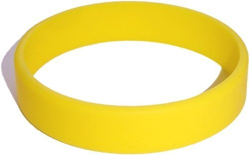 Child Size Yellow Wristband for Kid One Silicone Bracelet [Jewelry]
