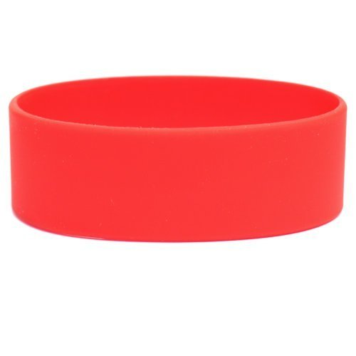 One Inch Wide Simple Red Silicone Wristband [Jewelry]