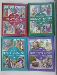 Children's Bible Based Collection 4-Pack ~ Old & New Testament, Book of Praye...