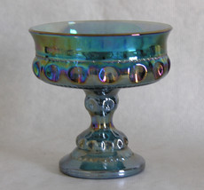 Indiana Glass Kings Crown Compote Carnival Glas... - $19.30