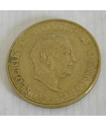 1957 Denmark 1 Krone Coin Circulated Ungraded - $4.90