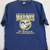 c21c2b8f1c6 United States Marines 3rd Battalion Recruit Depot Adult T Shirt Blue XL -   13.81