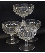 Fostoria American Clear Vintage Low Footed Sherbet Glasses Set of 4 - $22.72