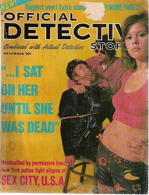 OFFICIAL DETECTIVE STORIES Magazine December 1971 lurid crime stories/pictures