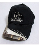 Ducks Unlimited Black and Camo Baseball Hat Cap... - $17.77