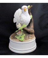 Milano Porcelain Bisque White Dove Music Box Lo... - $14.46
