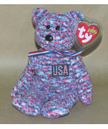 Ty USA Bear Beanie Baby 2000 Patriotic Retired - $9.70