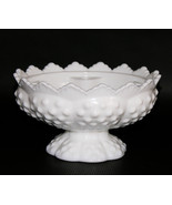 Fenton Vintage Hobnail Milkglass Footed Candle ... - $27.67
