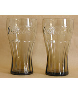 Smoke Brown Libbey 16 Ounce Coke Coca Cola Glas... - $13.81