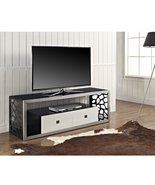 Walker Edison Black Glass Modern Mosaic TV Stan... - $449.00