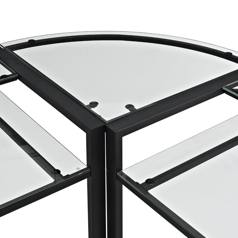 Walker Edison C Frame Glass Amp Metal L Shaped Corner