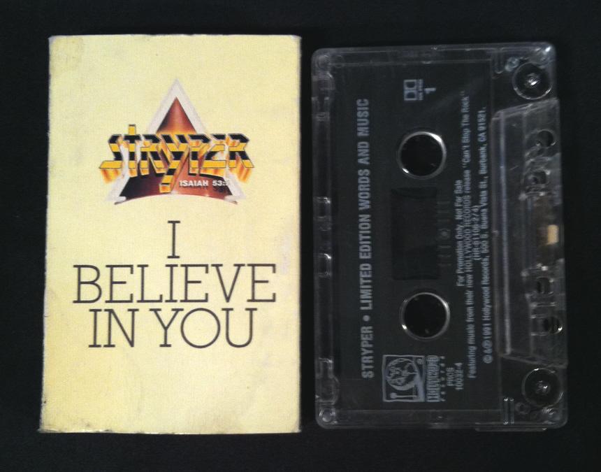 Vintage stryper i believe in you cassette single