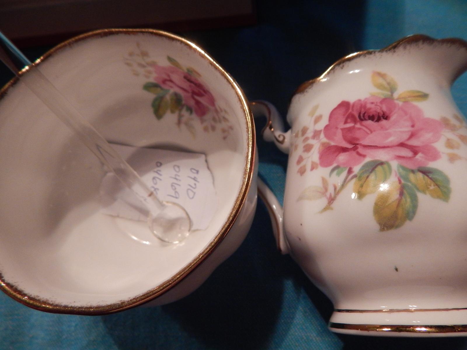 Royal Albert American Beauty Creamer & Sugar Bowl Free Shipping Bone China