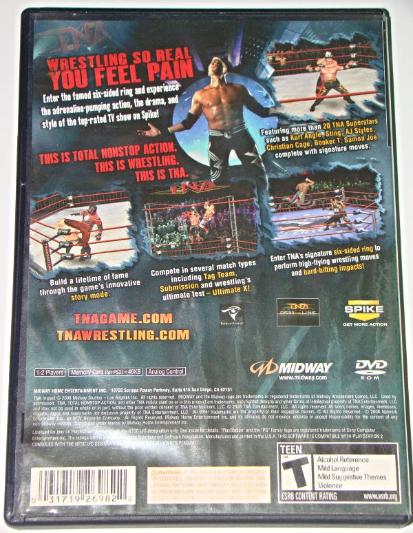Playstation 2 - MIDWAY - TNA IMPACT! (Complete with Instructions)