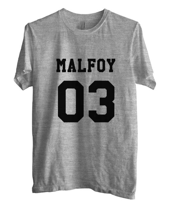Malfoy 03 on front Draco Malfoy Potter Men Tee Color Heather Grey