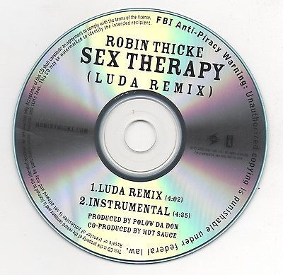 Robin Thicke Sex Therapy Ludacris Remix Limited Edition 2009 Promo CD Lot of 2
