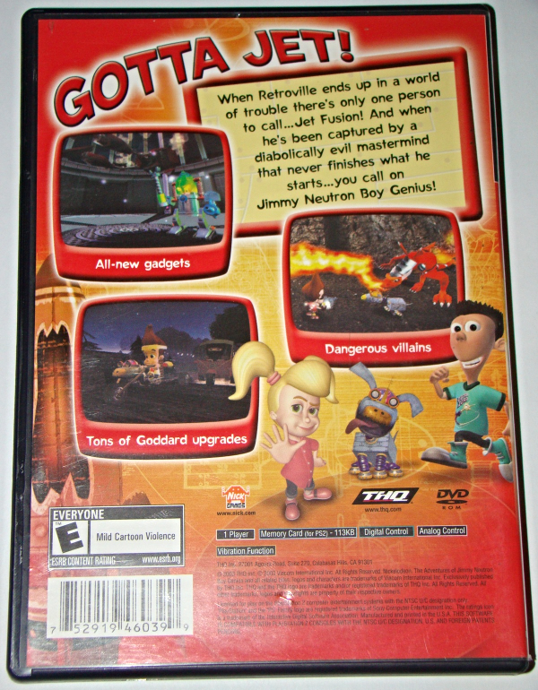 Playstation 2 - THE ADVENTURES OF HIMMY NEUTRON BOY GENIUS-JET FUSION (COMPLETE)