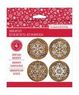 Snowflake Stitch Art Wooden Ornament Kits 4/pkg... - $15.00