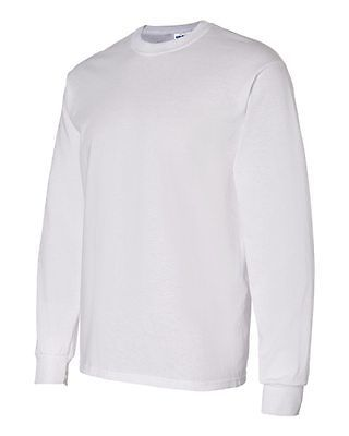 50 Gildan Heavy Cotton White Adult Long Sleeve T-Shirts Bulk Blank Lot S M L XL