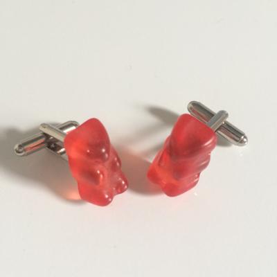 Red gummy bear cufflinks
