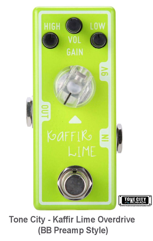 Tone City Golden Plexi Drive T7 + T6 Kaffir Lime Effect Pedals Micro as Mooer