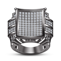 Hot Fashion Jewelry 1.87ct Sim Diamond Solid .925 Sterling Silver Women's Ring - £91.41 GBP