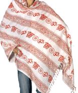 Prayer Shawl Om Pure Cotton 6.7 Feet Long Yoga Meditation Temple - $35.00
