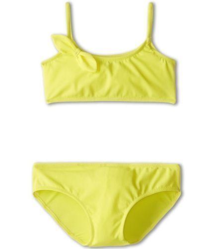 NWT $190 GIRLS Dolce & Gabbana Lemon Yellow Bikini with Bow 8