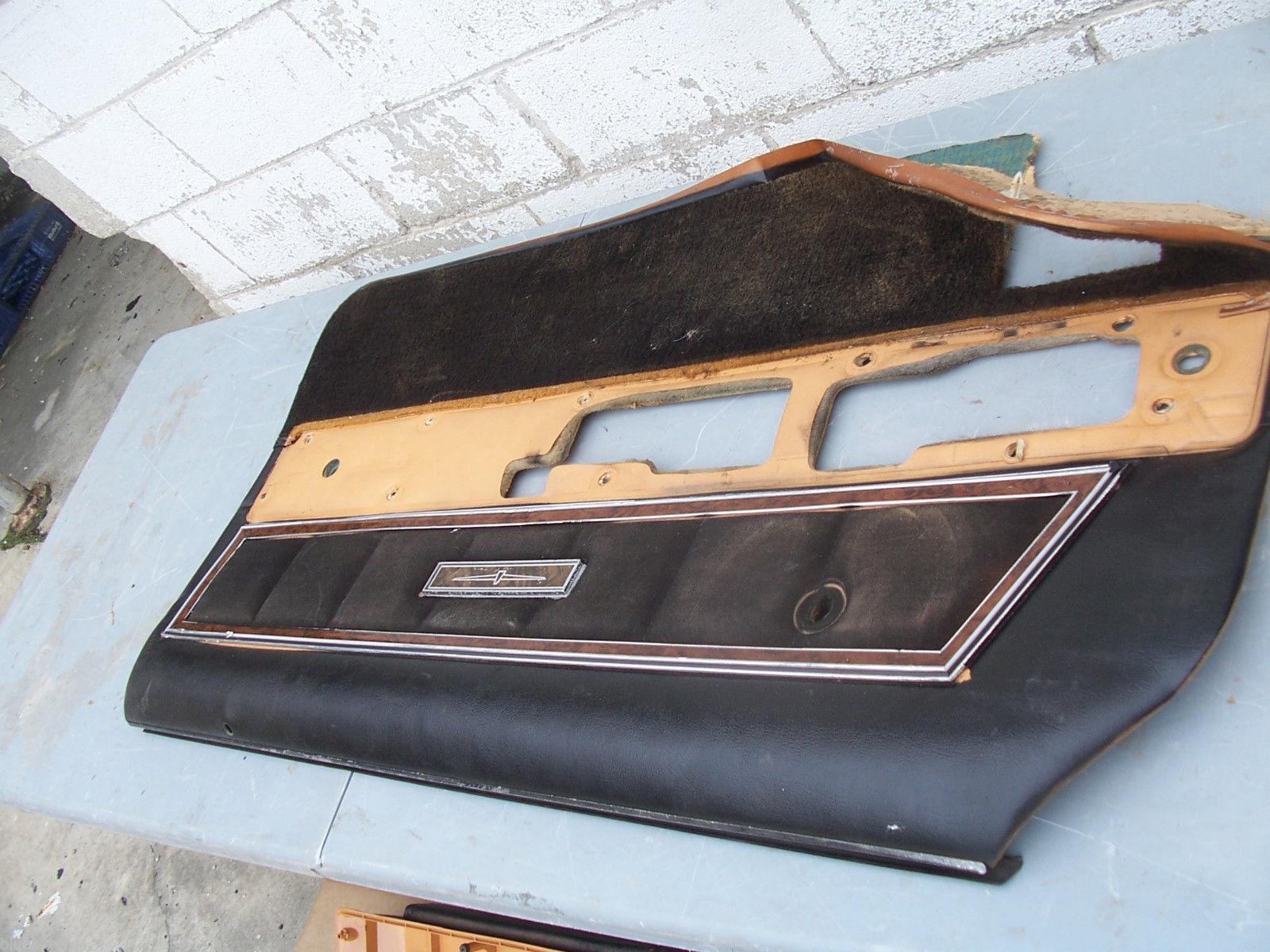 1977 THUNDERBIRD RIGHT BROKEN INSIDE DOOR PANEL OEM USED FORD 1978 1979