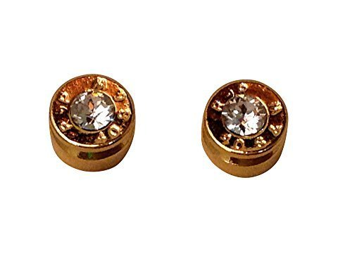 Lizzy J's Bullet Stud Gold Tone Traditional with Crystal [Jewelry]