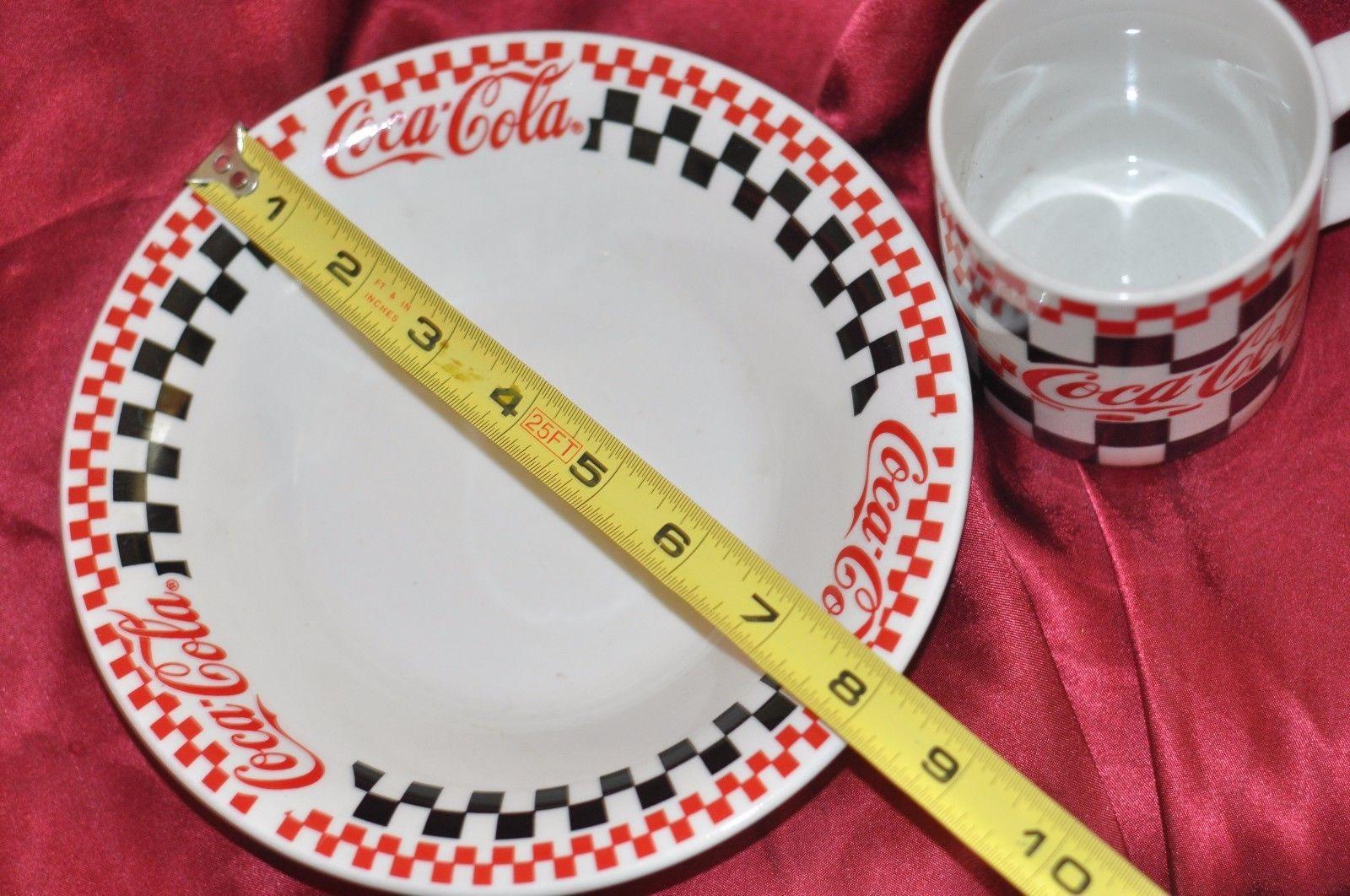 Coca-Cola Soup bowl and Big Mug Matching Set 1999 Gibson