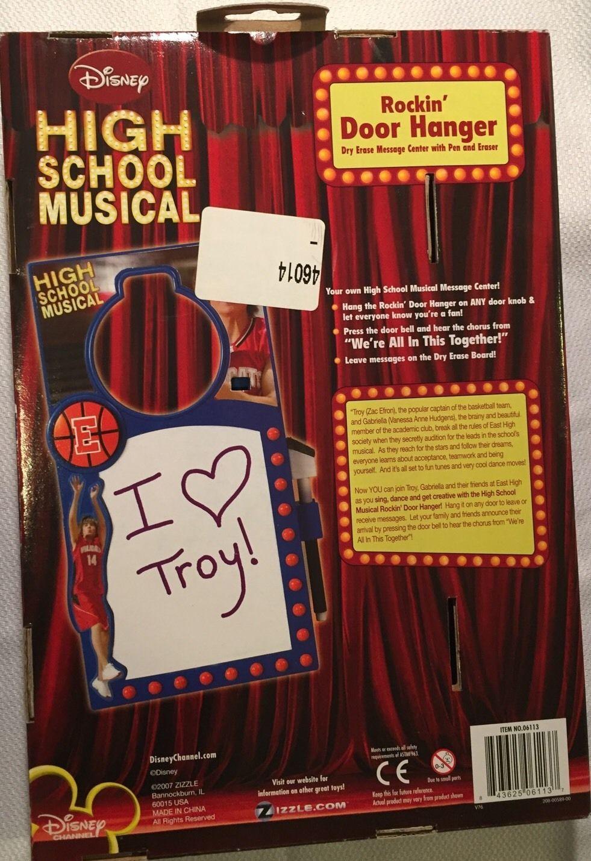 Disney  High School Musical Rockin Door Hanger Easy Message Center Pen / Eraser