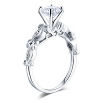 925 Sterling Silver Engagement Ring Vintage Style 1.25 Ct Affordable Lab Diamond - $99.99
