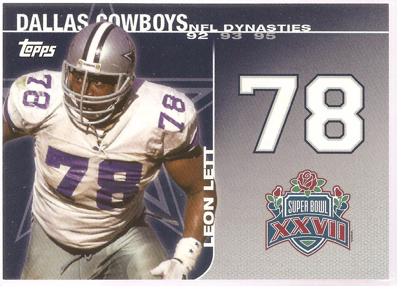 Leon Lett Topps 2008 #DYN-LL NFL Dynasties Tribute Dallas Cowboys