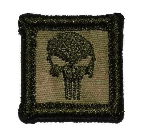 Punisher Skull 1x1 inch Military Patch / Morale Patch - Multiple Colors (Dese...
