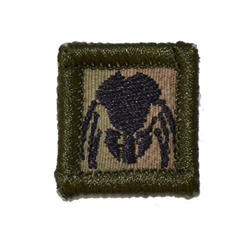 Predator Mask 1x1 inch Military Patch / Morale Patch - Multiple Colors (Multi...