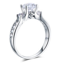 925 Sterling Silver Wedding Engagement Ring Brilliant 1.25 Ct Lab Create... - $99.99