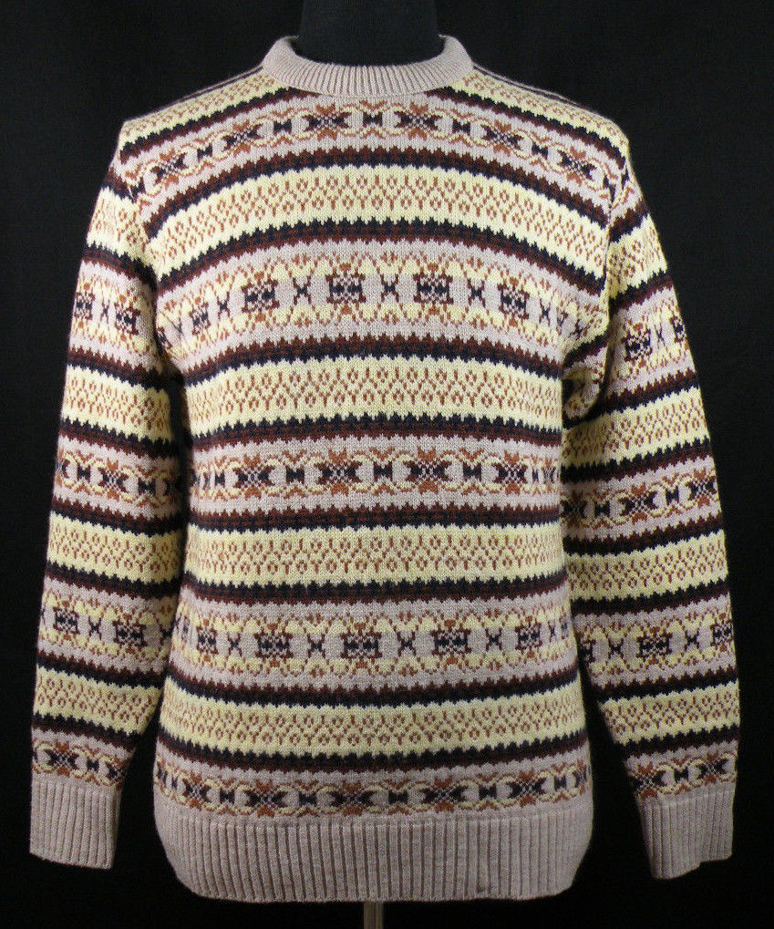 Vintage Nordic Style Sweater by Lord Jeff 100% Wintuk Orlon Hipster Winter Fall