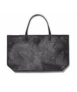 NWT Victoria's Secret Black Lazer-cut Beauty Tote Bag. See through front. - $29.99