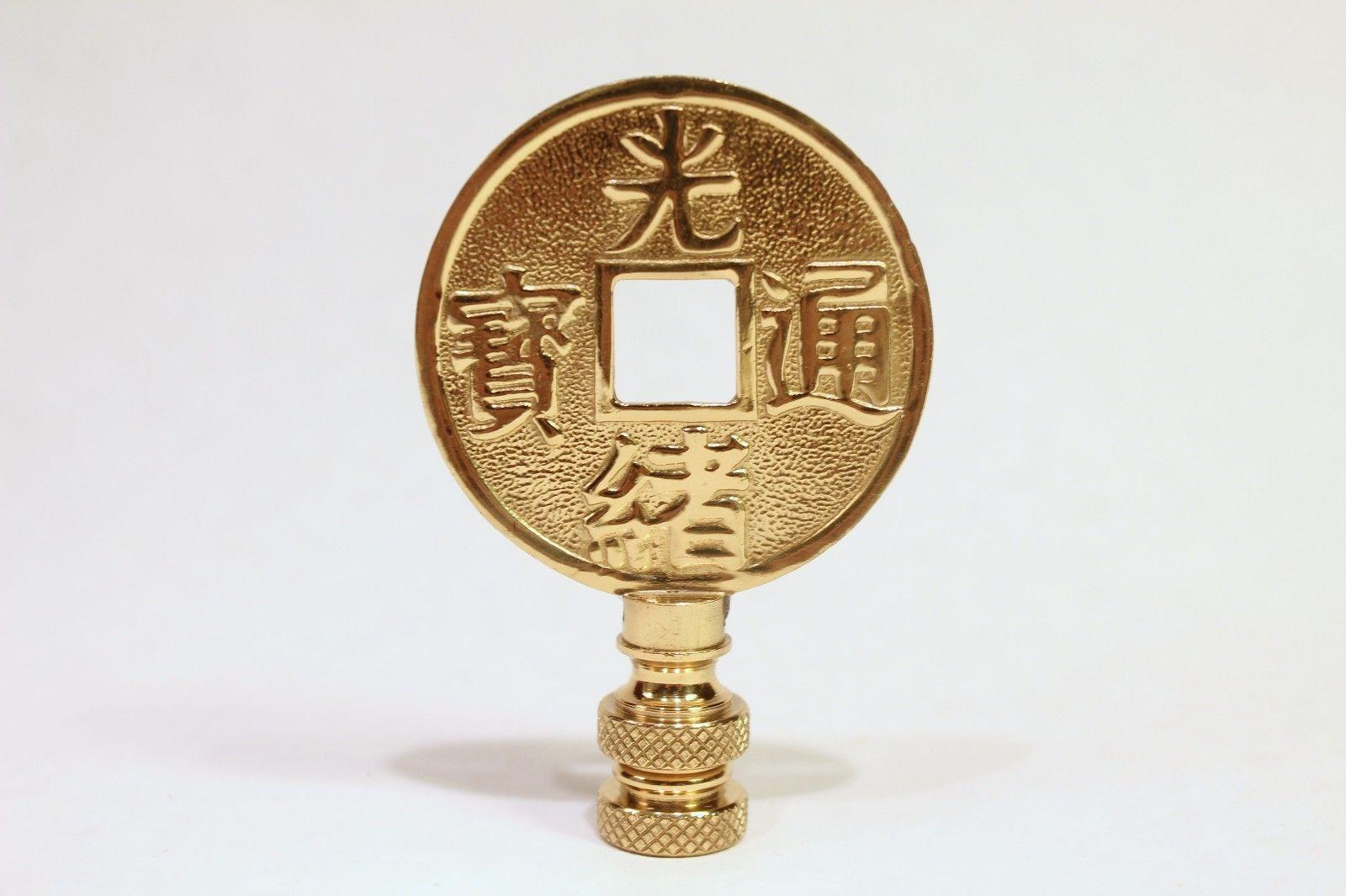Beautiful Brass Coin Lamp Finial